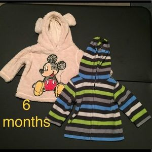 Other - 2 fleece tops, size 6 months